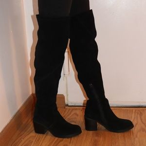 Suede thigh high boots *no trades*
